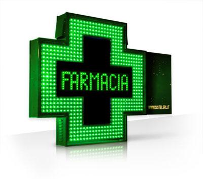 Croce farmacia 90 led verde effetti luminosi box - Farmacie di turno comune bagno a ripoli ...